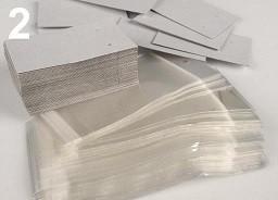 kartonček za uhane 5x8 cm, bele b., 1 kos