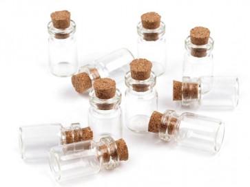 embalaža iz stekla 13 x 25 mm, prozorna, 1 kos