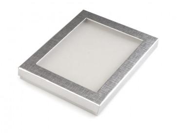škatla iz kartona za nakit 30x160x190 mm, srebrne b., 1 kos