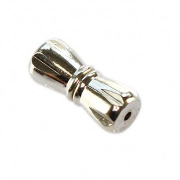 zaključni element 5x10 mm, srebrne b., 1 kos