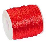 satenasta vrvica 2 mm, rdeča, 50 m