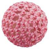 volnene-plastične perle, okrogle 20 mm, pink, 1 kos