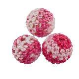 volnene-plastične perle, okrogle 14 mm, mix, 1 kos