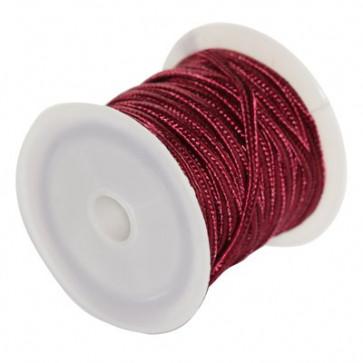 soutache vrvica 2,5 mm, barva: maroon, 4 m