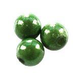 """plastične """"čudežne"""" perle 6 mm, emerald, 10 kos"""