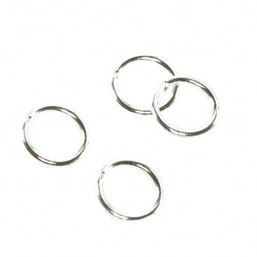 zaključni obroček 5 mm, srebrne barve, 100 kos