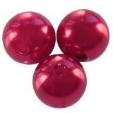 plastične perle okrogle, 6 mm, maroon, 50 gr