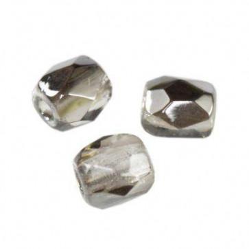 perle - češko steklo 3 mm, gray dark silver, 10 kos