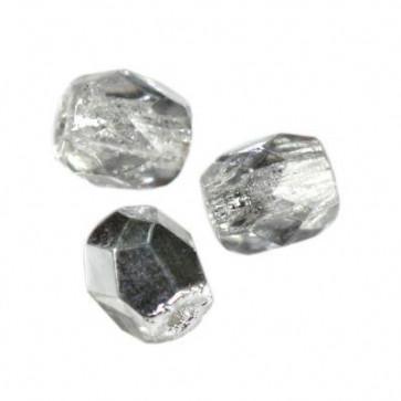 perle - češko steklo 4 mm, light siler night, 10 kos