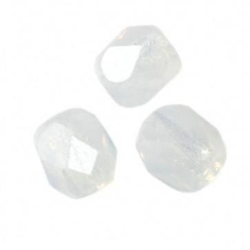 perle - češko steklo 4 mm, milky white, 10 kos