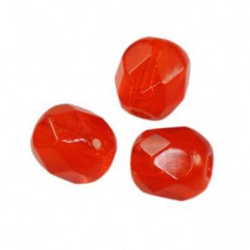 perle - češko steklo 4 mm, red, 10 kos