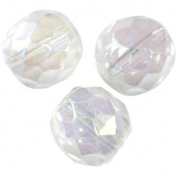 perle - češko steklo 8 mm, crystal ab, 1 kos