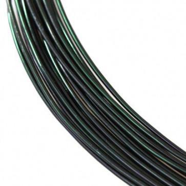 alu barvna žica za oblikovanje, 0.8 mm, črna, dolžina: 5 m