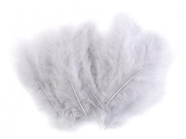 perje 10-17 cm, svetlo siva b., 1 kos