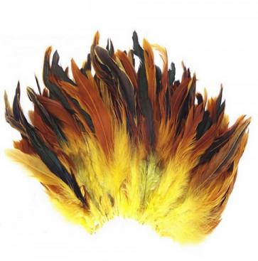 perje 15 cm, rumeno-rjave b., 1 kos