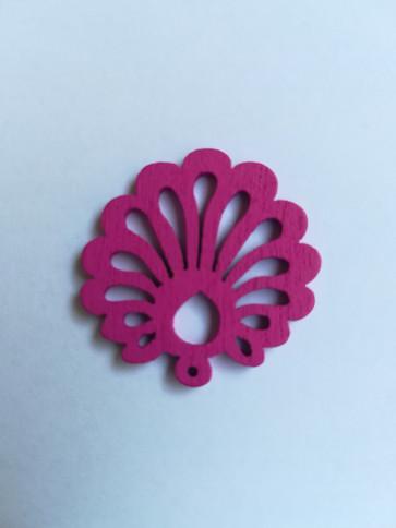 lesena školjka 25 mm, roza, 5 kos