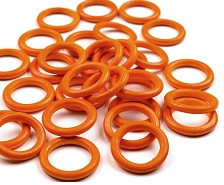 lesen obroč 33 mm, oranžen, 1 kos
