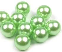 plastične perle brez luknje 10 mm, sv. zelene, 1 kos