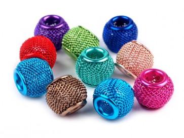kovinske perle z veliko luknjo 10x12 mm, mix, 1 kos
