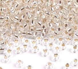 Rocailles perle 2,3 mm, srebrne, 25 g