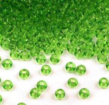 Rocailles perle 2,3 mm, svetlo zelene, 25 g