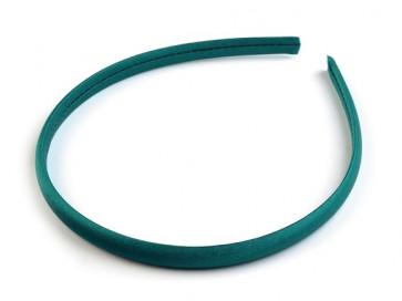 obroč za lase 1 cm, smaragdne barve, 1 kos