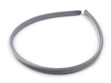 obroč za lase 1 cm, siv, 1 kos