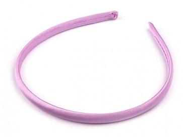 obroč za lase 1 cm, sv. vijola, 1 kos