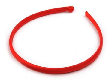 obroč za lase 1 cm, rdeče b., 1 kos
