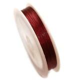 jeklena žica - zajla 0,45 mm, vijola-rdeča, dolžina: 85 m