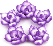fimo roža 25 mm, vijola, 1 kos