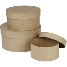 škatla iz kartona (okrogla) 13x6,5 cm, rjava, 1 kos
