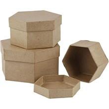 škatla iz kartona 11x6,5 cm, rjava, 1 kos