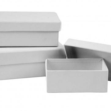 škatla iz kartona 9x12 cm, bela, 1 kos