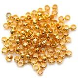 štoparji 2 mm, zlate barve, 1000 kos