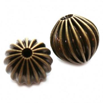dekorativne perle 6 mm, antik, 1 kos