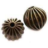 dekorativne perle 8 mm, antik, 1 kos