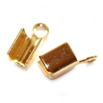 zaključni element za vrvico 8 mm, pozlačen, 10 kos