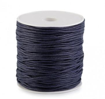 bombažna vrvica 1,5 mm, temno modra, povoščena, 85 m