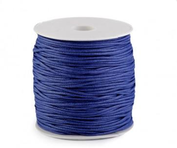 bombažna vrvica 1,5 mm, svetlo modra, povoščena, 85 m