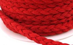 usnjeni trak 4 mm, rdeči, 1 m
