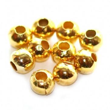kovinske perle 4 mm, zlate barve, 500 kos