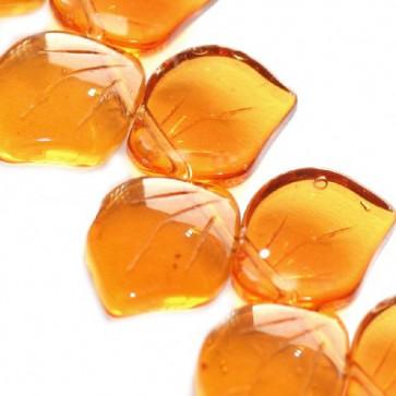 steklene perle - list 14 mm, rjavi, 1 kos