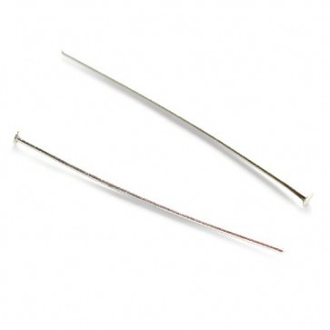 igla za perle 3,8 cm, srebrne barve, 50 kos
