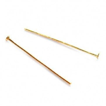 igla za perle 2,6 cm, zlate barve, 50 kos