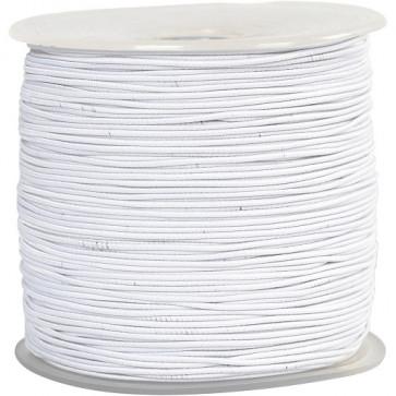 elastična vrvica 2 mm, bela, 1 m