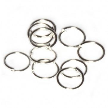 zaključni obroček 6 mm, srebrne barve, 50 gr