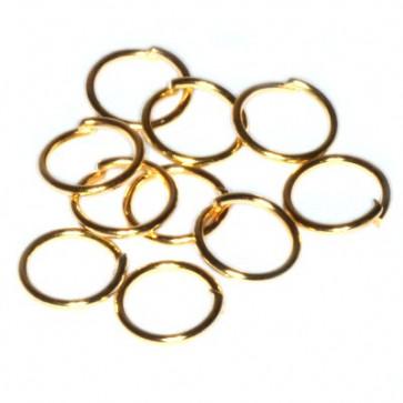 zaključni obroček 8 mm, zlate barve, 50 gr