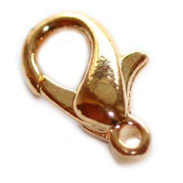 karabin 12 mm, zlate barve, 10 kos