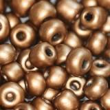 steklene perle 3,5 mm, rjavo zlate, neprosojne, 20 gr